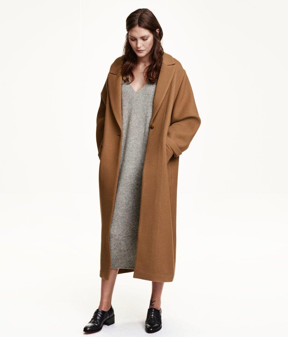 Maxi mantel camel