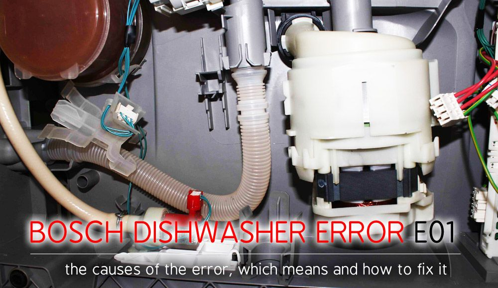 If Your Bosch Dishwasher Shows An E01 Error On The Display Do Not Panic This Is The Way A Self Diagnosis System Notifies Y Bosch Dishwashers Dishwasher Bosch
