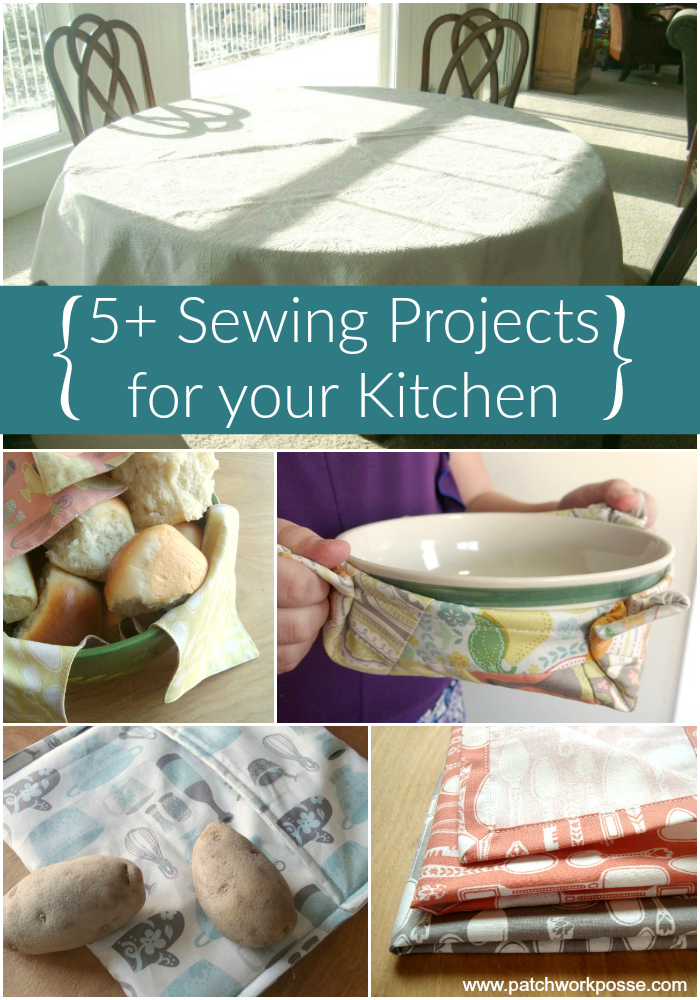 Küchensachen 5 Sewing Projects For The Kitchen - | Nähen - Quilten