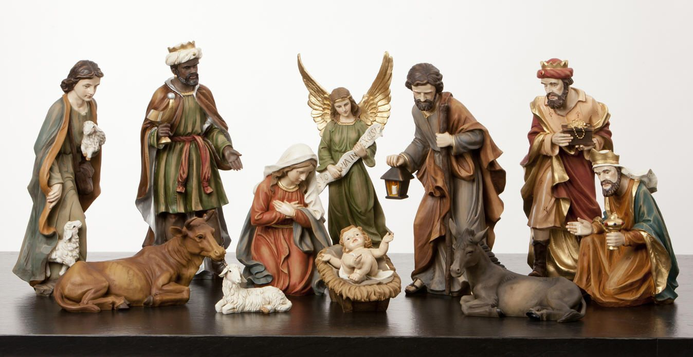 14 Full Color Heaven S Majesty 12 Piece Nativity Set Nativity Set Christmas Nativity Set Yard Nativity Scene