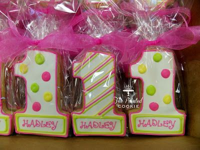 1st Birthday Cookies I HAVE To Do This For My Nieces First