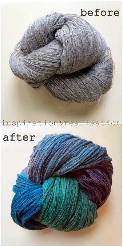 inspiration and realisation: DIY fashion blog: DIY dyeing wool yarn ...