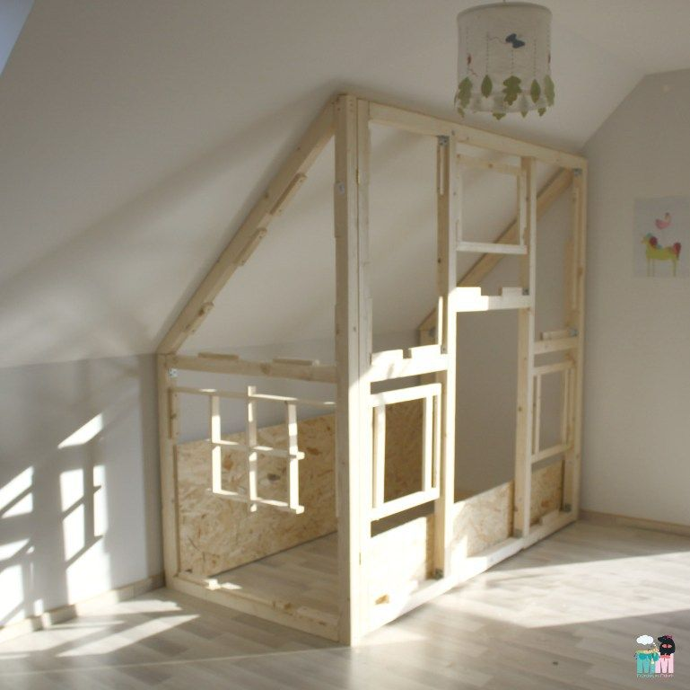 diy ein hausbett im kinderzimmer kinderzimmer m dchen pinterest kinderzimmer. Black Bedroom Furniture Sets. Home Design Ideas
