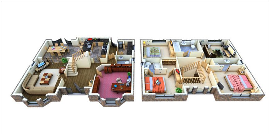 Two Story House Mansion Floor Plan House Flooring 2 Storey House Design