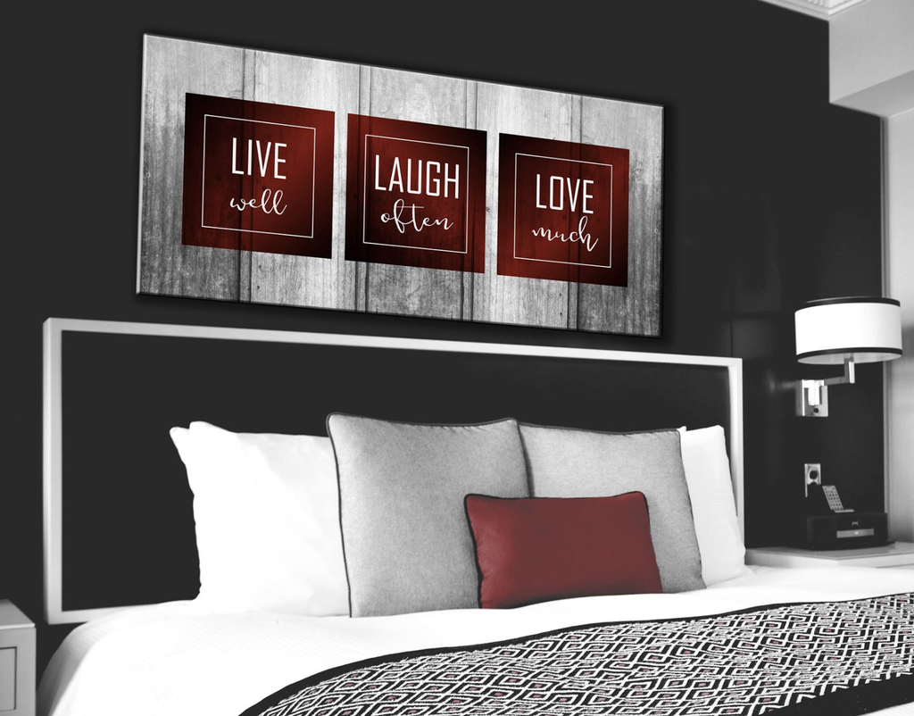 Bedroom decor wall art live laugh love bedroom large wall art