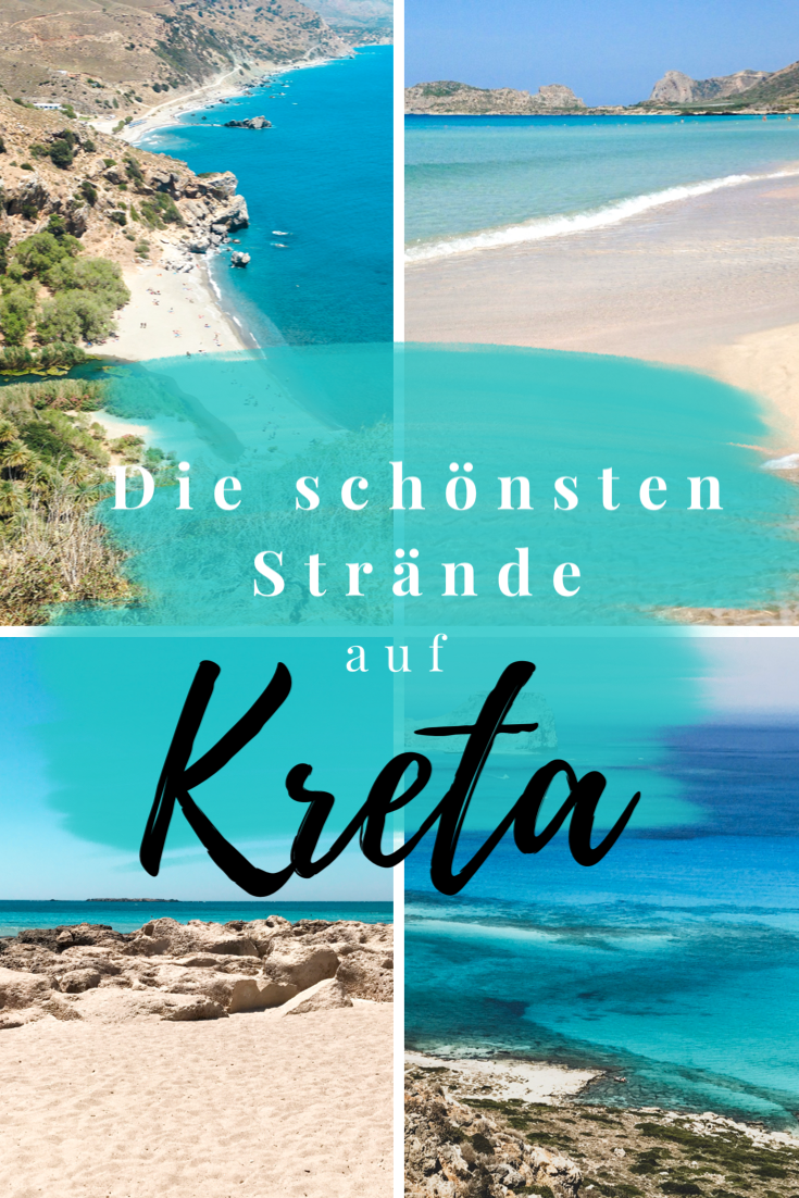 Du möchtest wissen, wo die schönsten Strände der Insel Kreta sind? Wir zeigen dir eine Auswahl der Top Spots der Mittelmeerinsel mit interaktiver Karte und Beschreibung der Strände. #kreta #kretastrände #kretaurlaub #crete #beach