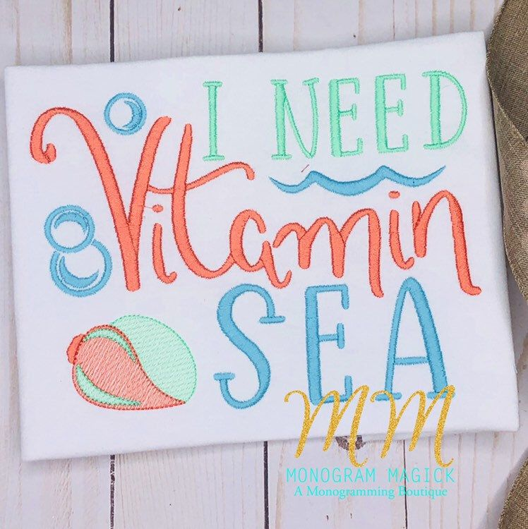 I Need Vitamin Sea Shirt, Childrens Cruise Shirt, Childrens Beach Shirt, Cruise Shirt, Nauti Shirt, Beach Shirt, Beach Vacation #beachvacationclothes