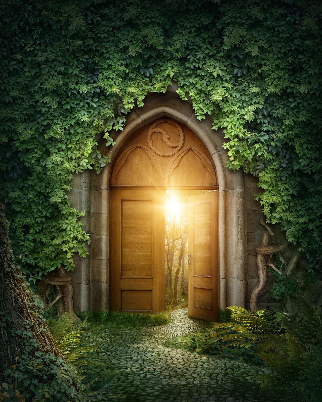 The Magical Fairy Doors Fantasy house, Background for