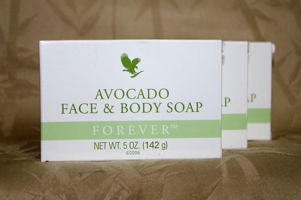 3 Forever Living Avocado Face Body Moisturizing Soaps 5oz Ea