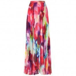 Shannon printed chiffon maxi skirt
