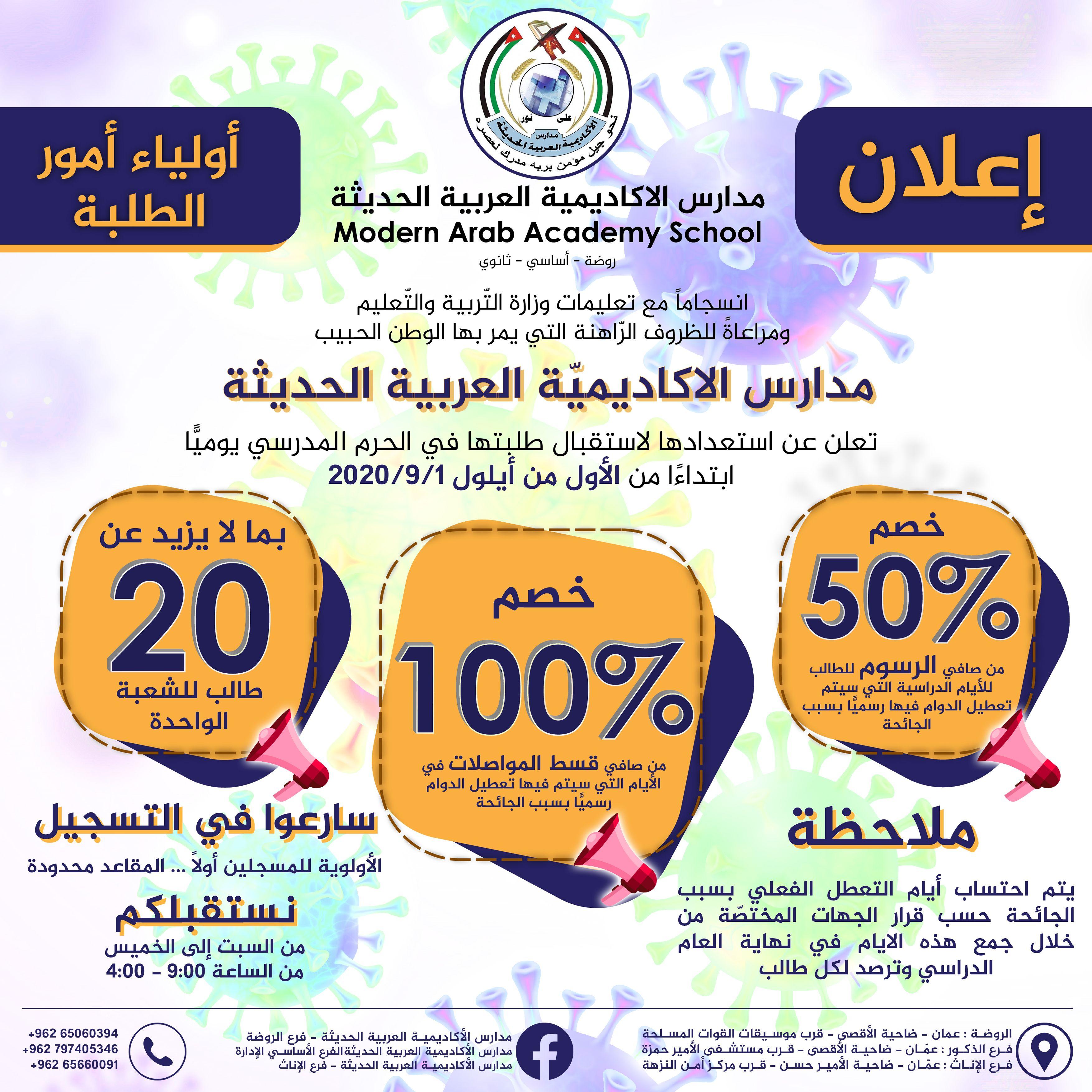مدارس الأكاديمية العربية الحديثة Design Graphic Design