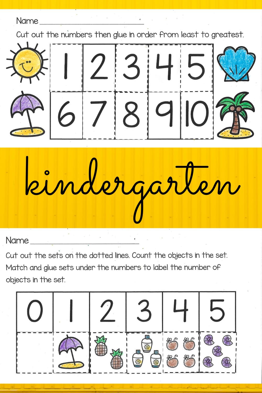 Kindergarten Worksheets For Summer Kindergarten Worksheets Kindergarten Kindergarten Math Worksheets [ 1500 x 1000 Pixel ]