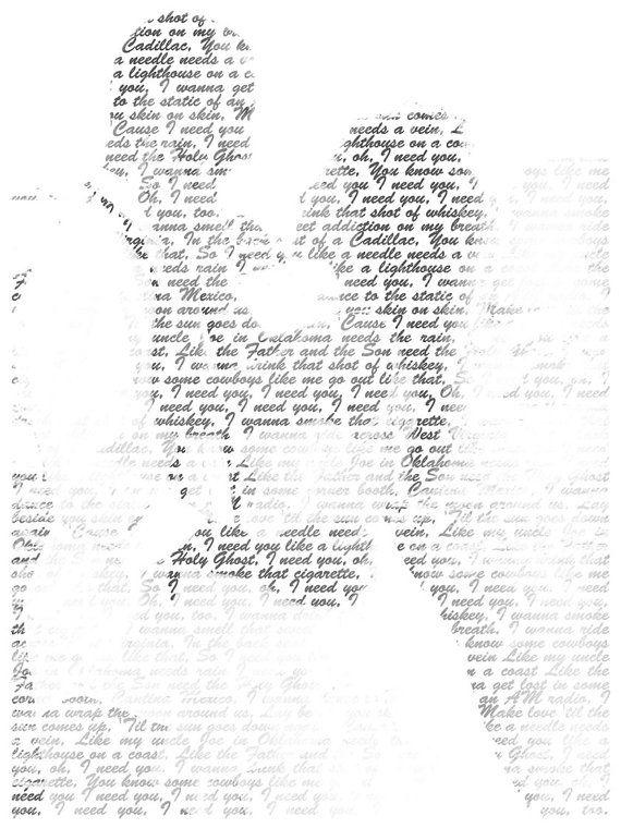 Gift Ideas For Women Wedding Gift First Dance Lyrics Custom Canvas