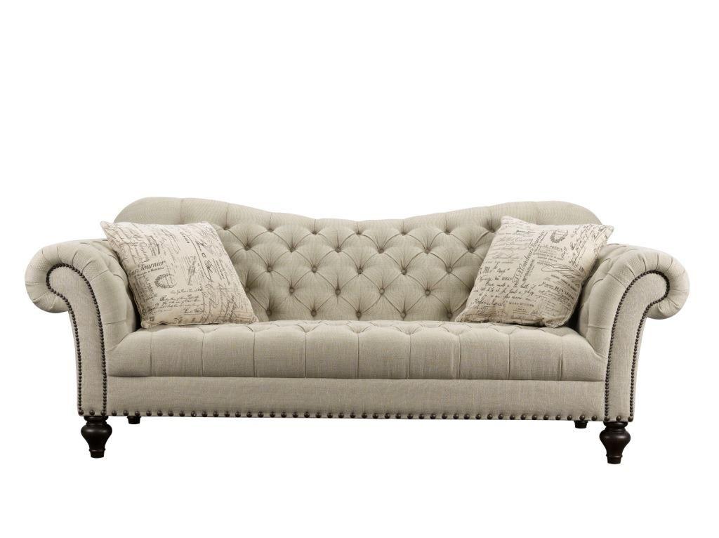 Fine Rachlin Classics Vanna Traditional Tufted Fabric Sofa Item Beutiful Home Inspiration Truamahrainfo