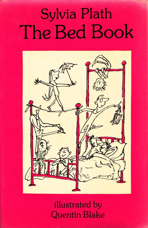 Illustrated Book Cover Zwart : The bed book sylvia plath s vintage poems for kids