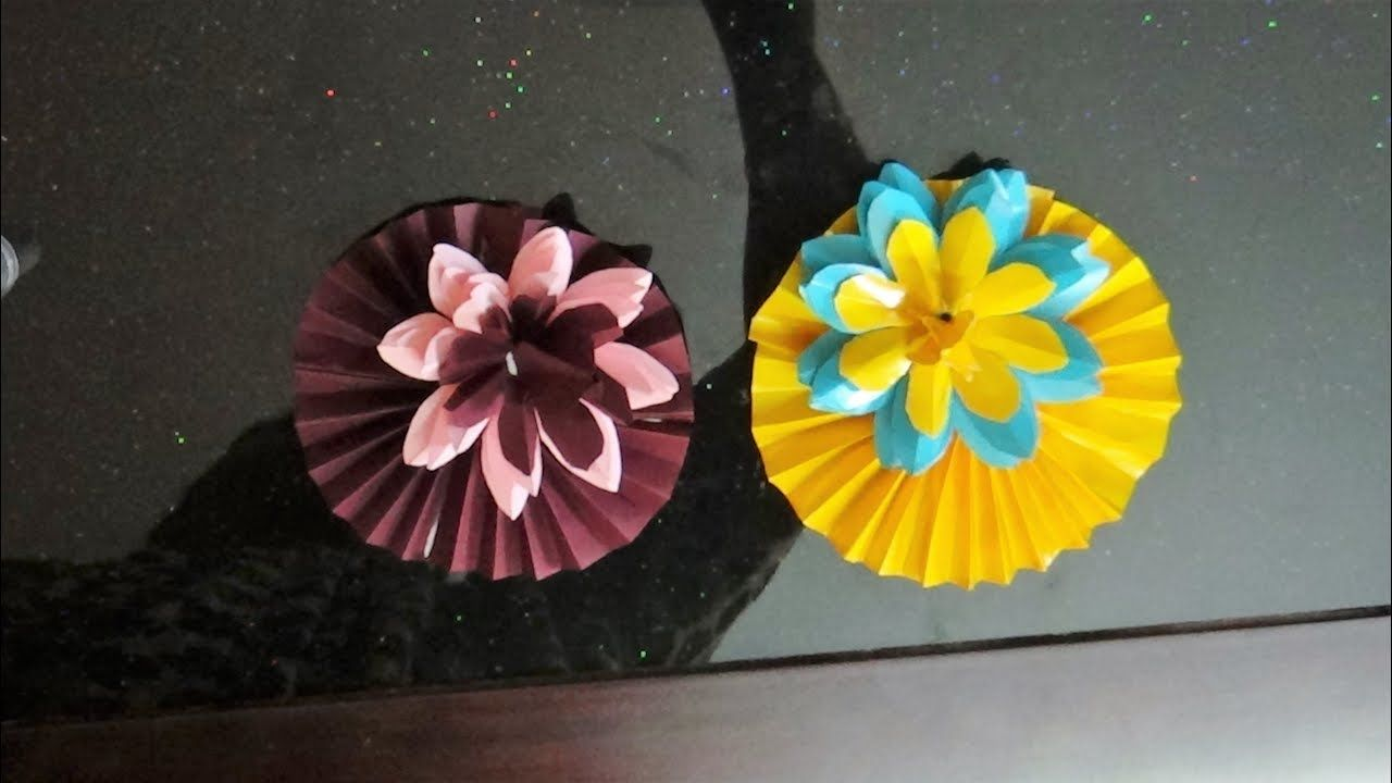 Paper Craft Simple And Easy Lotus Flower Craft Step By Step Art
