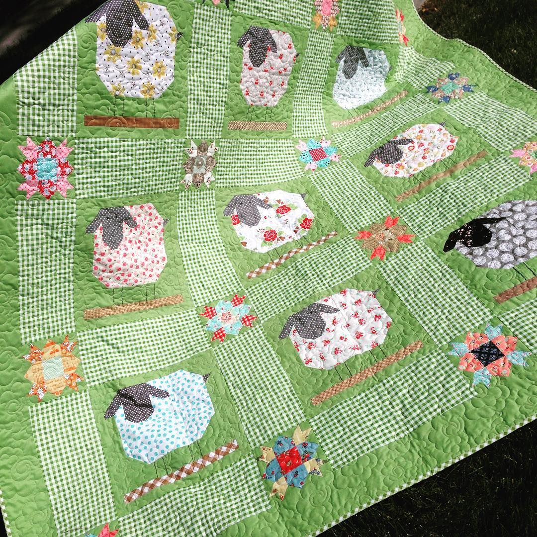 Finally Got My Sheep Together This Quilt Was Really Fun To Make