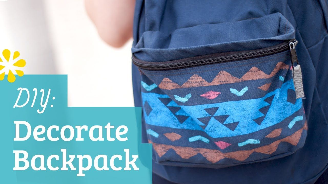 Back to School How to Decorate Your Backpack Diy