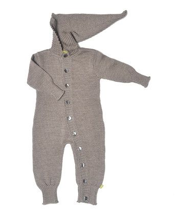 Nui Milo Hooded Romper Charcoal