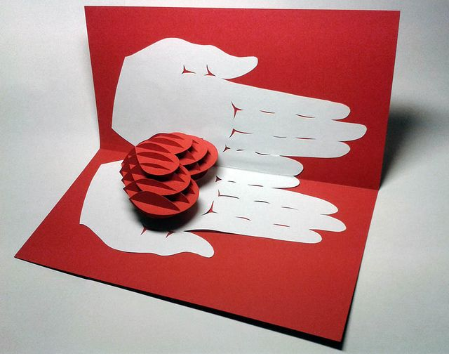 Три дэ открытки своими руками с детьми
