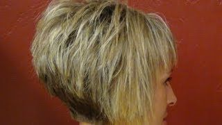 Short+Stacked+Hairstyles+Back+View | Short hair back view Videos ...