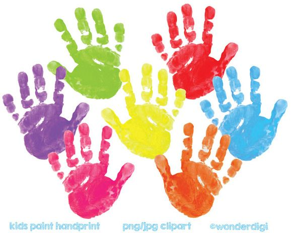 Painted Clipart Hand Prints Clip Art Painting For Kids Kids Clipart