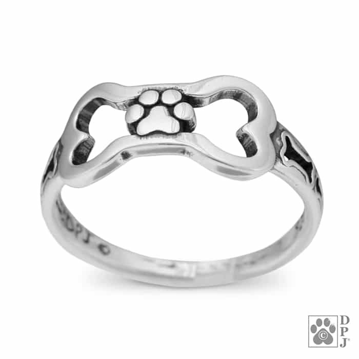 ring silver products dog pet biker sterling bikerringshop pitbull rings