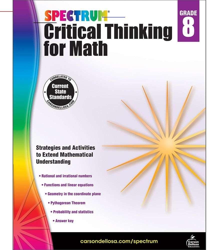 Spectrum Critical Thinking For Math Workbook Grade 8 Ebook Mathintherealworld In 2020 Math Workbook Word Problems Critical Thinking [ 1000 x 875 Pixel ]