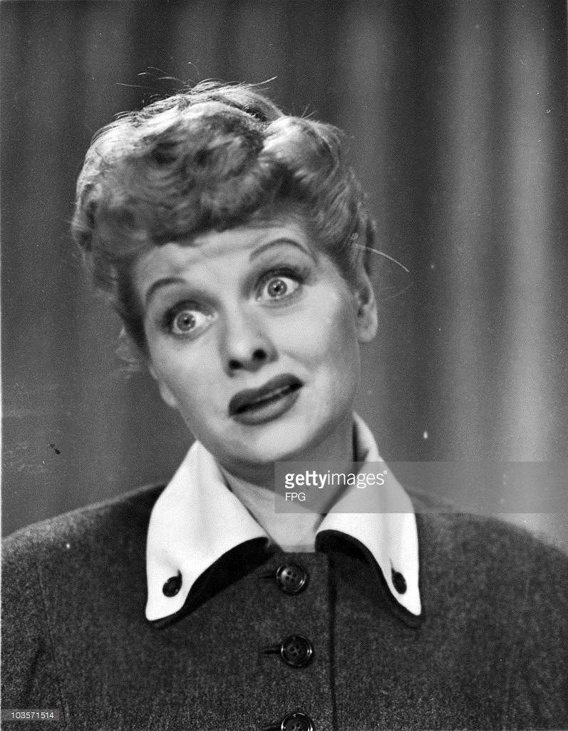 American actress Lucille Ball , circa 1955.