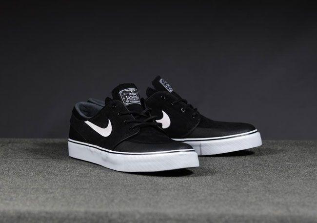 Nike Sb Stefan Janoski Pr Se Black White New Slate Zapatos Nike Tenis Janoski Tenis Sapato E Nike Sb