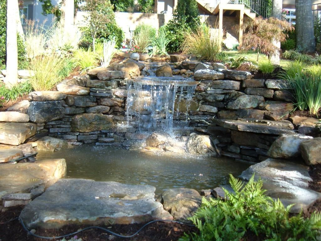 how to build less cost backyard waterfalls drawhome com water