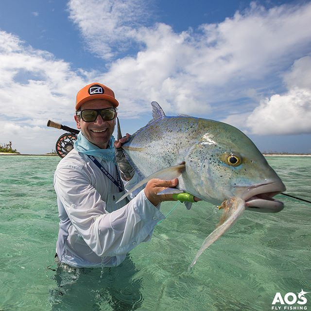 "Photo of AOS Fly Fishing ? on Instagram: ""A nice Bluefin Trevally from Farquhar Atoll, Seychelles @flycastaway ? ☀ ? #bluefintrevally #onthefly #aosfishing #flyfishingmakesyouhappy…"""