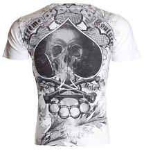 Xtreme Couture AFFLICTION Men T-Shirt SPADE Skull Tattoo Biker MMA UFC M-4XL $40