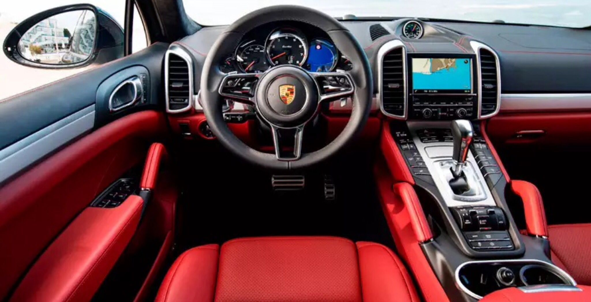 2015 porsche cayenne turbo s interior love the red interior