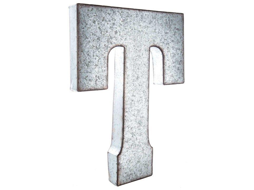 Galvanized Monogram Letters Large Galvanized Metal Letter  T  Home  Pinterest  Letter Wall
