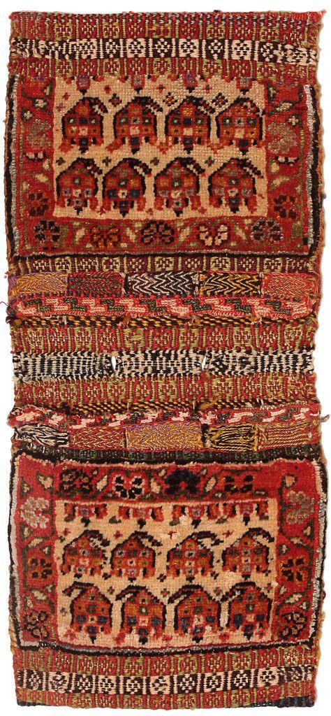 * Pile double saddle bag (front), Qashqa'i Confederacy, Qashquli tribe, Southern Persia, Circa 1880