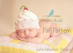 (6) Name: 'Knitting : Cute as a Cupcake Hat
