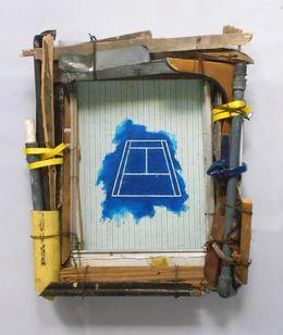 CANCHA DE TENIS de la serie Imágenes en azul, 2012, por Adrian Gaitan