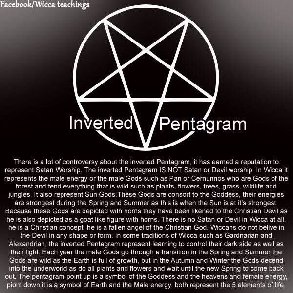 Inverted Pentagram Pinned By The Mystic S Emporium On Etsy Wicca Pentagram Wiccan Symbols Wicca
