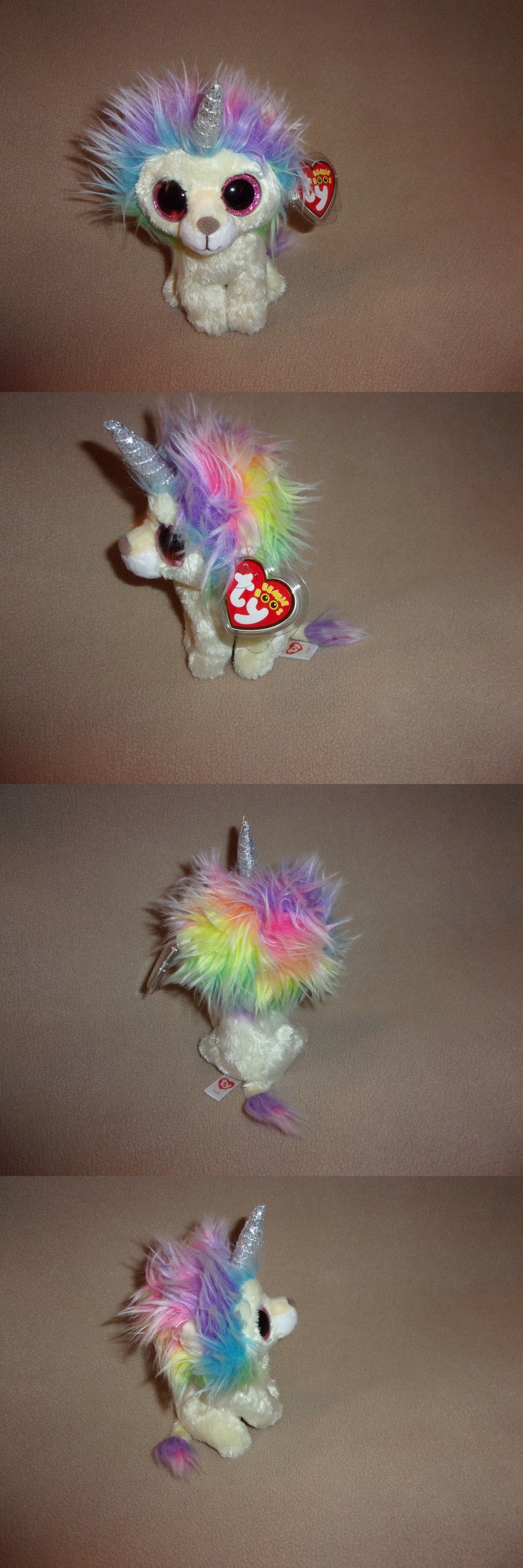 5cdaddc08ef Other Ty Beanbag Plush 1037  Ty Mwmt Layla The Rainbow Unicorn Lion Beanie  Boo-