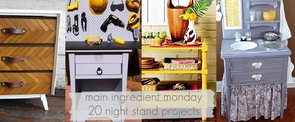collection of nightstand upcycles