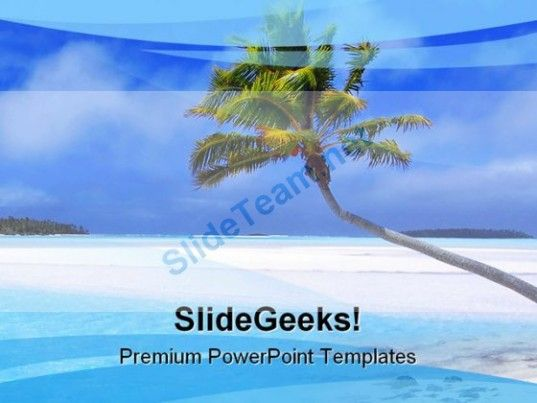 Beach Nature Powerpoint Template  Powerpoint Templates