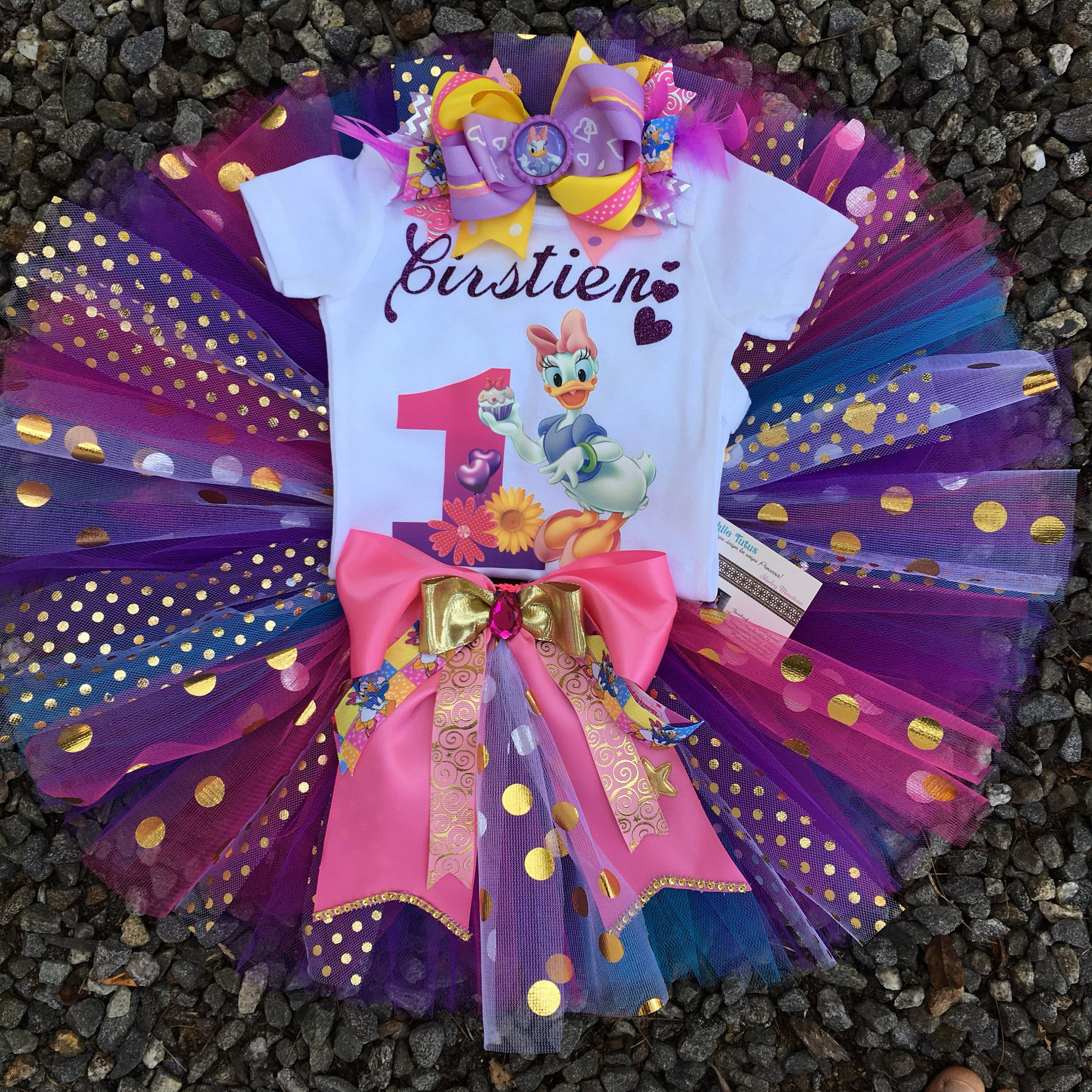 Shopkins 3rd Third 3 Birthday Dress Shirt Purple Tutu Outfit -With NAME-