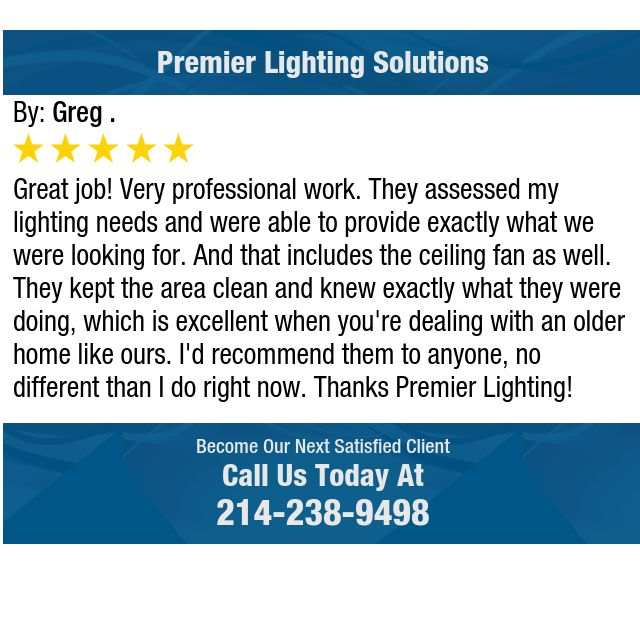 Great job! Very professional work. They assessed my lighting needs and were able to...