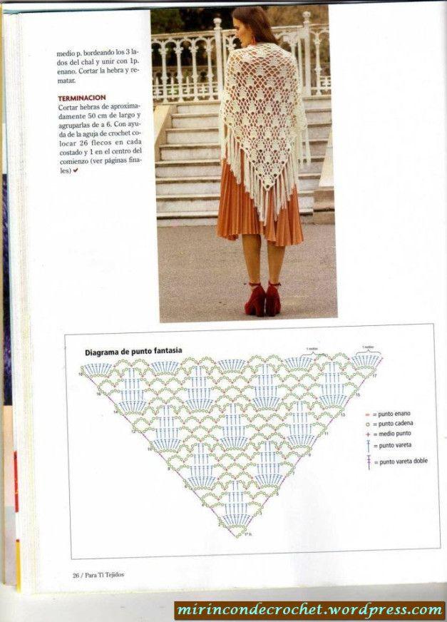 Pin de Cristina Borràs en Ganxet-shawls-Mantilles-buff | Pinterest ...