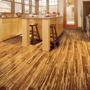 Superb Home Legend Distressed Strand Woven Bamboo Safari 7 In. X Mm Vinyl Plank  Flooring Sq. /   The Home Depot