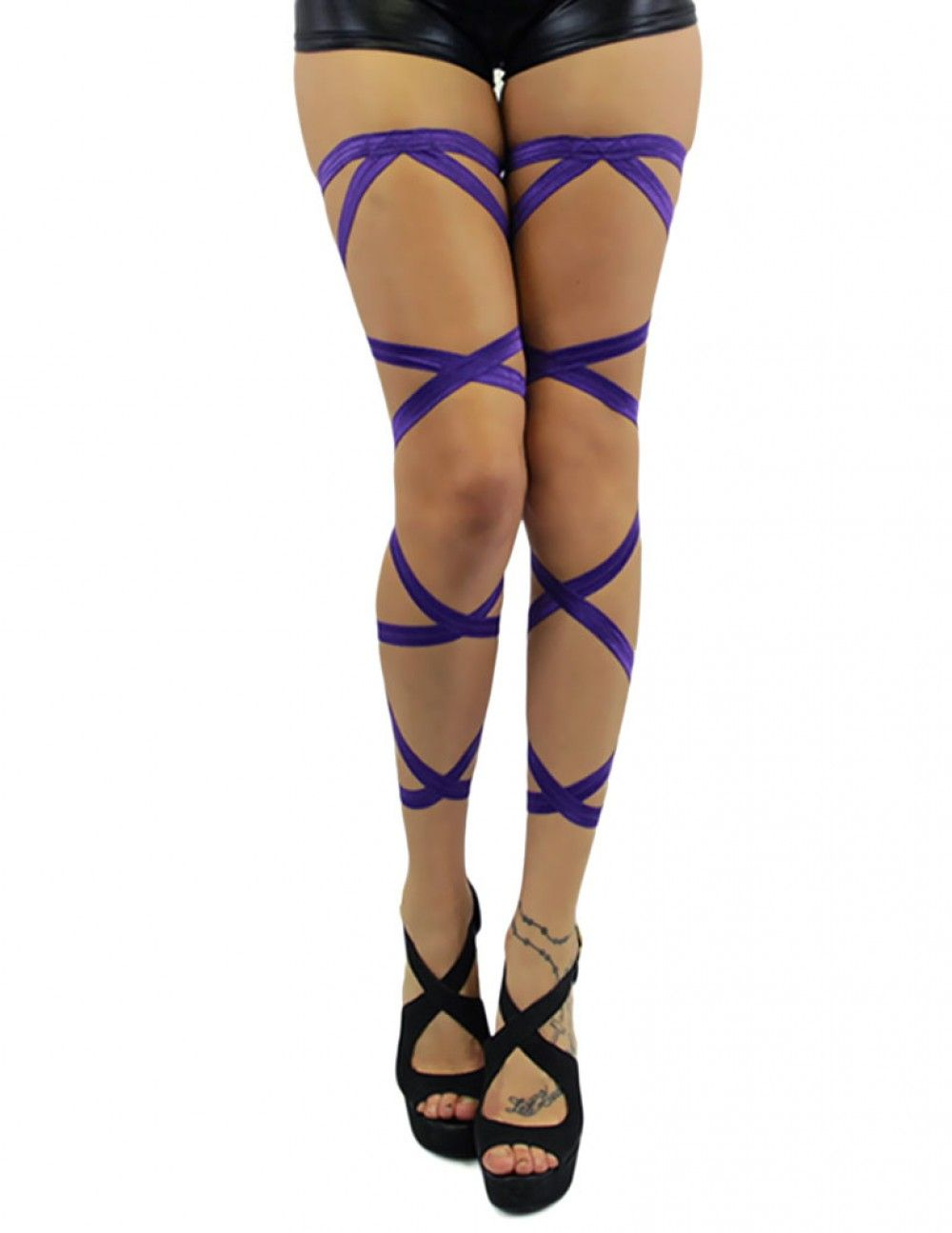 62144219f5c Pair of Non-Slip Purple Leg Wraps Perffffff. I love purple!  iHeartRaves   iHeartRaveFashion