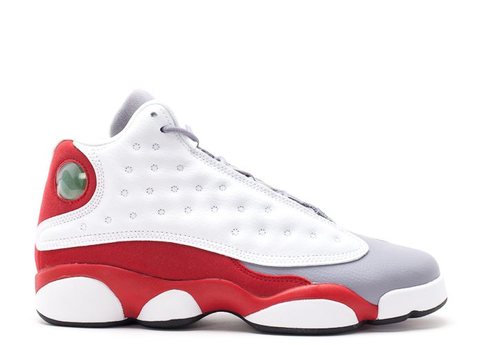 Anuszka Gojke Air Jordan 13 Retro bg gs grey toe White black true red cmnt  grey 012070 1 Basketball Running Sneakers Leather Athletic Shoes For Men 2ac471c63