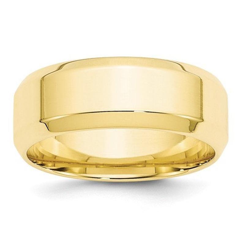Mens 10k Yellow Gold Comfort Fit Engravable Rectangular Signet Ring