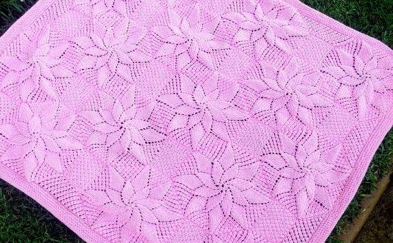 Baby Blanket Knitting Pattern Vintage Style Baby Shower Gift